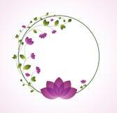 典雅的花卉框架 免版税库存图片