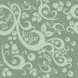典雅的花卉葡萄酒无缝的样式背景 图库摄影