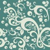 典雅的花卉葡萄酒无缝的样式背景 免版税库存图片