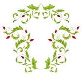 典雅的花卉设计 免版税库存照片
