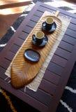 典雅的茶杯和deco 库存照片