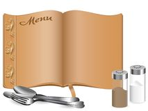 典雅的菜单 免版税图库摄影