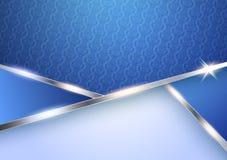 典雅的蓝色传染媒介设计 库存图片