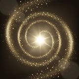 典雅的螺旋微粒足迹背景 库存照片