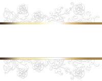 典雅的豪华白色卡片 图库摄影
