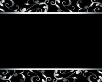 典雅的豪华黑卡片 库存照片