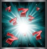 典雅的赌博娱乐场商标 库存图片