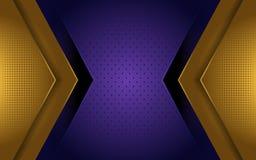 典雅的金子和紫色豪华背景 向量例证