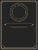 典雅的金子和黑装饰设计 库存图片