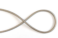 典雅的金属水管曲线 免版税图库摄影