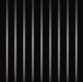 典雅的银色发光的垂直线,条纹背景在黑色隔绝的魅力帷幕 免版税库存图片
