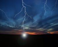 典雅的闪电 库存图片