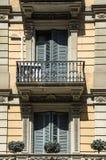 典雅的阳台在巴塞罗那 图库摄影