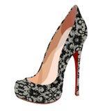 典雅的鞋带鞋子 库存照片