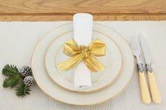 典雅的餐位餐具 免版税图库摄影