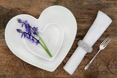 典雅的餐位餐具 免版税库存图片