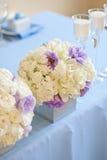典雅的饭桌婚礼 库存图片