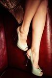 典雅的高跟鞋 免版税库存照片