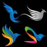 典雅的鸟概念商标 免版税库存照片