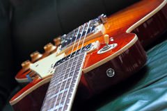 典雅的经典电吉他 免版税库存图片