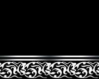 典雅的黑卡片 免版税库存图片