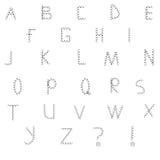 典雅的轻的字体 免版税库存照片