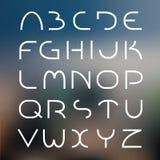 典雅的轻的字体 库存图片