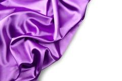 典雅的紫色丝绸背景 库存图片