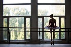 典雅的年轻芭蕾舞女演员 库存照片