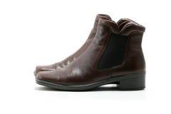 典雅的s穿上鞋子侧视图妇女 免版税库存照片
