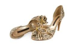 典雅的s穿上鞋子妇女 免版税图库摄影
