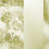 典雅背景的圣诞节 EPS 8 免版税库存图片