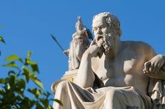 经典雕象Socrates 库存照片