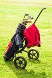 经典高尔夫球袋 库存照片