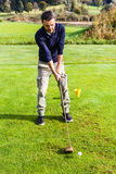 经典高尔夫球 免版税库存照片