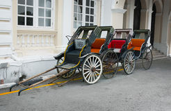 经典,手动的人力车在乔治城,槟榔岛,马来西亚 库存图片