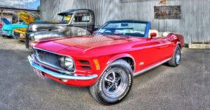 经典20世纪70年代Ford Mustang 库存图片