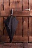 经典黑人的伞 免版税图库摄影