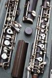 经典仪器- oboe细节 库存照片