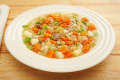 经典刻痕汤蔬菜汤碗 图库摄影