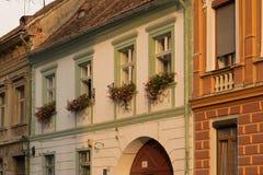 经典建筑风格大厦在布拉索夫,罗马尼亚,特兰西瓦尼亚,欧洲 图库摄影