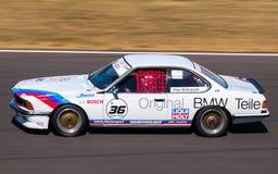 经典BMW 635 CSi赛车 库存照片