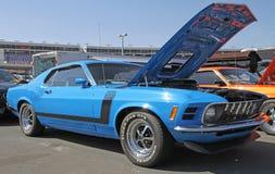 经典Ford Mustang汽车 免版税库存图片