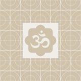 经典Om瑜伽演播室设计卡片 免版税库存照片