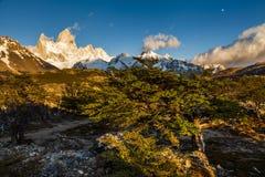 费兹罗伊山看法  Los Glaciares国家公园 免版税图库摄影
