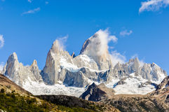 费兹罗伊峰顶, El Chalten,阿根廷, El Chalten,阿根廷 库存照片