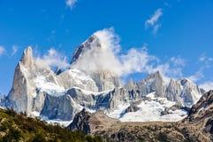 费兹罗伊峰顶, El Chalten,阿根廷, El Chalten,阿根廷 库存图片