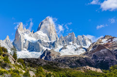 费兹罗伊峰顶, El Chalten,阿根廷, El Chalten,阿根廷 免版税库存图片