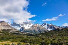 费兹罗伊峰顶, El Chalten,阿根廷 免版税图库摄影