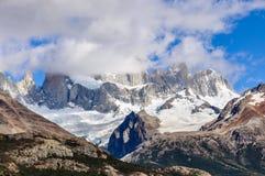 费兹罗伊峰顶, El Chalten,阿根廷 库存图片